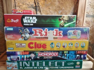 juegos de mesa Monopoly Risk clue intelect uno