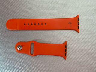 Correa silicona Apple Watch roja usada