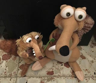 Pack Peluches Scrat Age Ice 3 y 4.