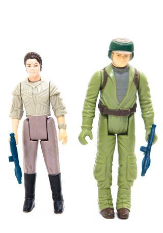 Kenner Star Wars Vintage Leia y Rebel Commando