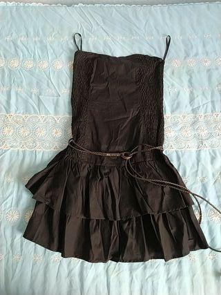Vestido negro Bershka
