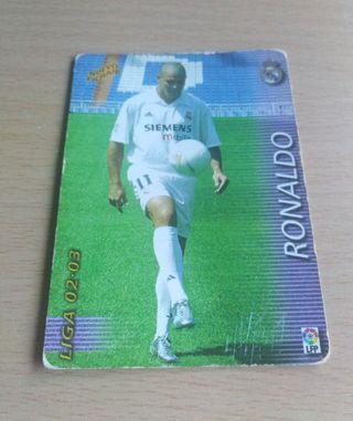 Ronaldo card/cromo.
