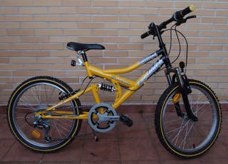 """Bicicleta 20"""" WHEELWORX DOBLE SUSPENSIÓN"""