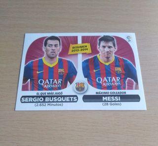 Messi Busquets cromo.