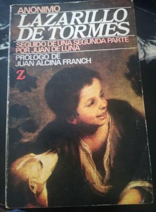 """libro """"El Lazarillo de Tormes.."""""""