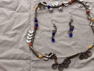 Pendientes y collar vintage