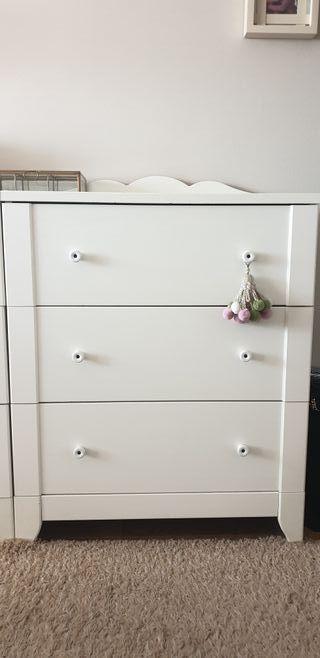 Cómodas Ikea, color blanco, muebles para el hogar