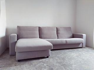 Sofa Cama Doble 4 Plazas moderno esquinero tela