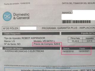 Robot aspirador LG en GARANTÍA