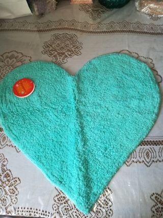 corazón, alfombra, nuevo.