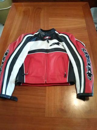 chaqueta moto mujer piel alpinestars