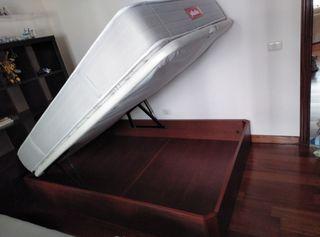 Cama de de 1.35 cm con arcón y colchón pikolin