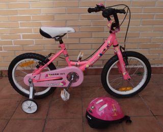 Bicicleta niña 16'' BERG y casco