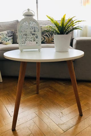 Mesa auxiliar blanca madera