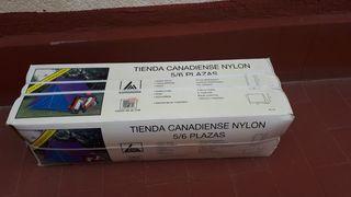 Tienda canadiense nylon con 3 sacos de dormir