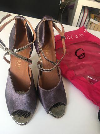 Zapatos de baile (salsa) T-7 nuevos