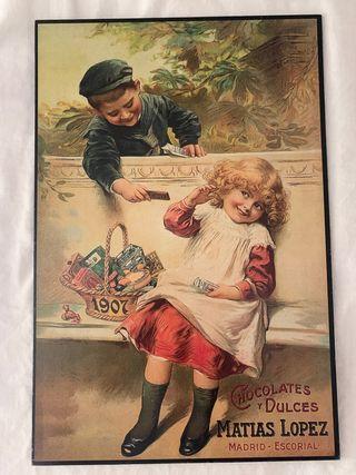 Publicidad vintage chocolates