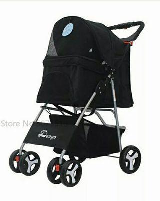 carro para mascota, plegable, 4 ruedas