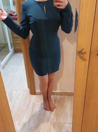 Vestido esmeralda Mango