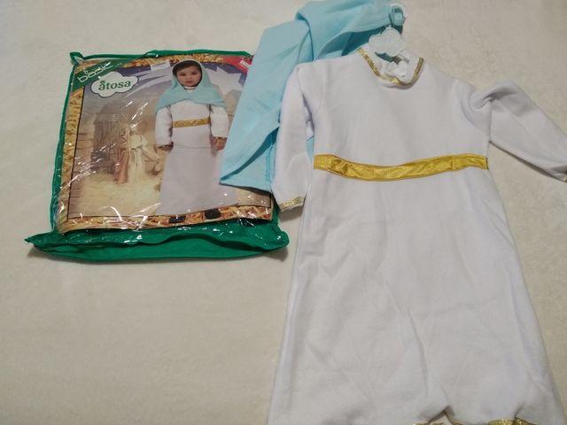 Disfraz Virgen María niña talla 12-24 meses