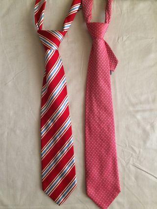 2 corbatas Massimo Dutti nuevas 100% Seda