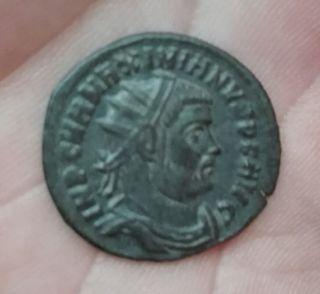 moneda romana de Maximino Herculeo