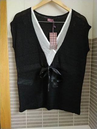 Camiseta+ pendientes