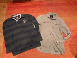 camisa vaquera g-star raw y polo pepe jeans L