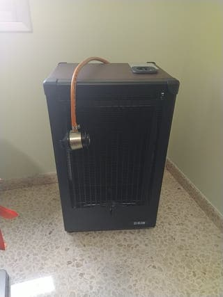 estufa de gas llama azul