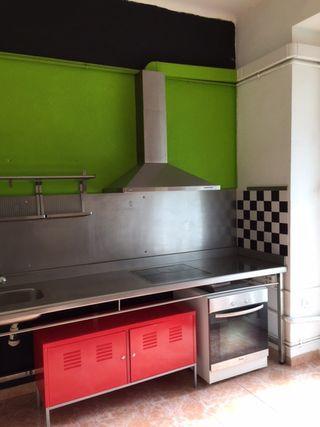 Encimera cocina acero inoxidable + frontal