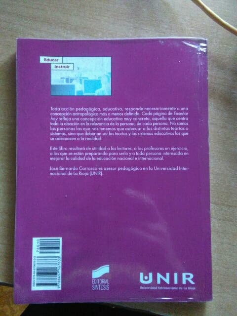 Libro Enseñar hoy. Didactica básica para profesore