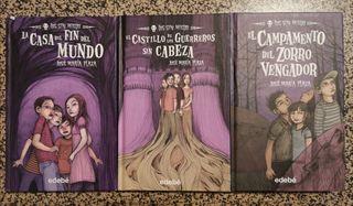 3 libros. Serie Los Sin Miedo