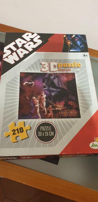 Puzzle efecto 3D Star Wars