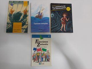 Lote 4 libros lectura juvenil
