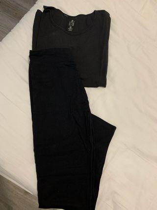 Camiseta y 2 pantalones de deorte