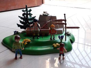 Playmobil familia campamento