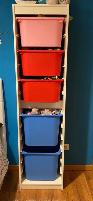 Estructura almacenaje estantería 46x30x179