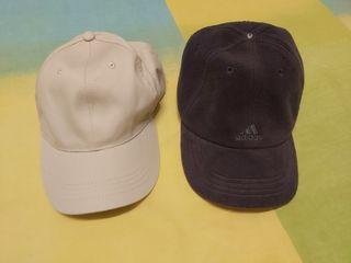 2 gorras hombre Adidas.