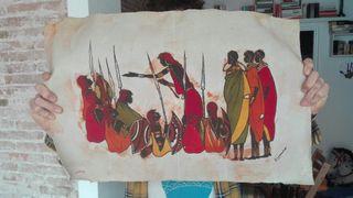 africano masai etnico lienzos esculturas objectos