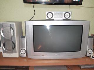 CONJUNTO DE TELEVISION Y ALTAVOCES DE LARGO ALCANC