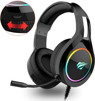 Auriculares Gaming Luz LED RGB PC PS4 XBOX