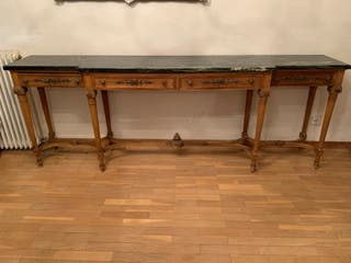 Mueble cubertero antiguo madera y mármol
