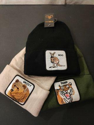 gorros lana con etiquetas,varios modelos