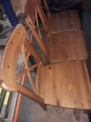 5 sillas de madera Ikea impecables