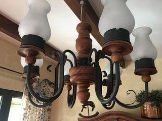 Lámpara techo rústica mejicana