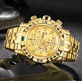 TEMEITE Creative Golden Men Relojes de pulsera de