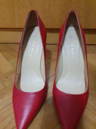 Zapatos tacón, rojos, talla 37, Mai Piu Senza.