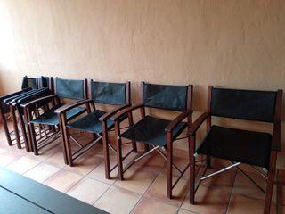 Vendo 6 sillas de director plegables
