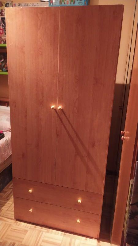 Armario de 2 puertas 2 cajones