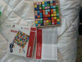 juego sudoku madera